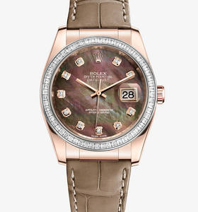 Replica Rolex Datejust 36 mm Watch : 18 ct Everose guld - M116185BBR - 0008