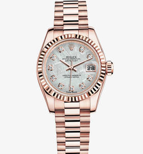 Replica Rolex Lady - Datejust Watch : 18 ct Everose guld - M179175F - 0002