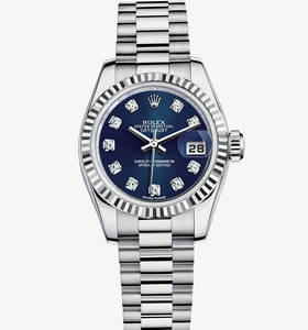 Replica Rolex Lady - Datejust Watch : 18 ct vitguld - M179179 - 0021