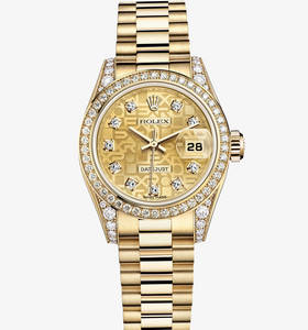 Replica Rolex Lady - Datejust Watch : 18 ct gult guld - M179158 - 0030