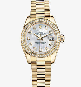 Replica Rolex Lady - Datejust Watch : 18 ct gult guld - M179138 - 0028