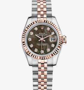 Replica Rolex Lady - Datejust Watch : Everose Rolesor - kombinationen av 904L stål och 18 karat Everose guld - M179171 - 0019