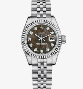 Replica Rolex Lady - Datejust Watch : Vit Rolesor - kombinationen av 904L stål och 18 karat vitguld - M179174 - 0028