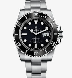 Replica Rolex Submariner Date Watch : 904L stål - M116610LN - 0001